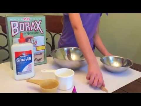 How to make slime with borax and glue.