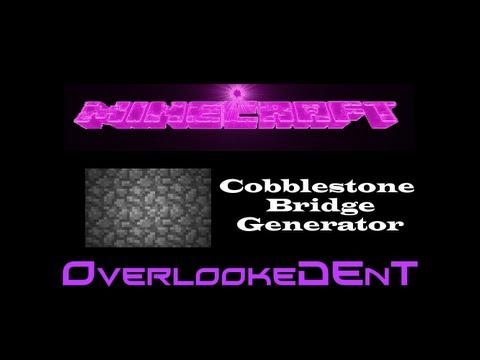 Cobblestone Bridge Generator - Minecraft Xbox 360/PS3 - [Tutorial]