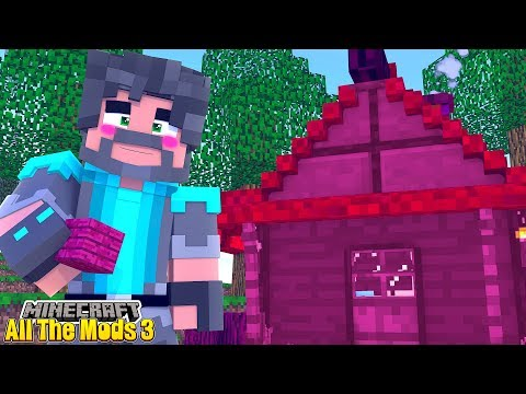 I BUILT A PINK HOUSE!! | MINECRAFT ALL THE MODS 3 [#4]