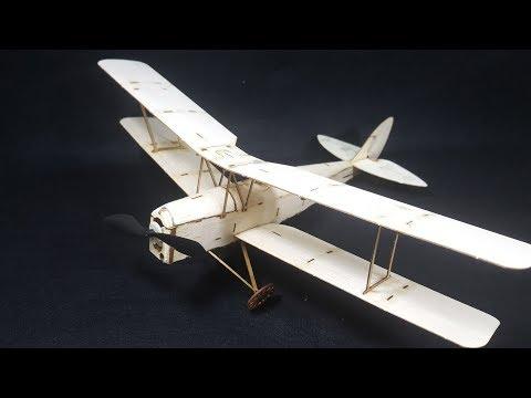 How to Assembling RC Tiger Moth Biplane - Balsa Wood Airplane