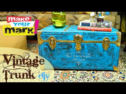 How to:  Storage Trunk Makeover DIY