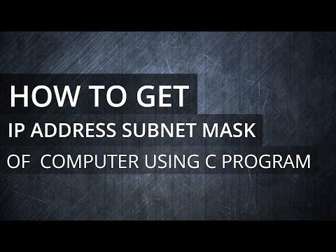 C Programming Exercise -  Program to Get IP Address, Subnet Mask, Default Gateway