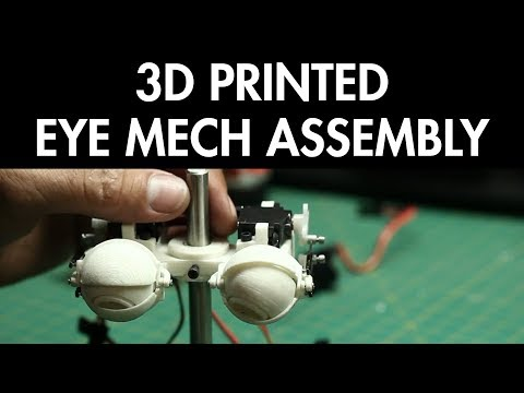 3D Printed Eye Mechanism Assembly - FREE CHAPTER