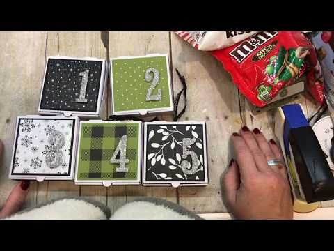 How to make a Quick and Easy Pizza Box Advent Calendar