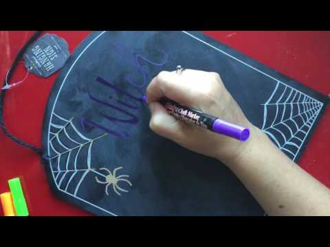 How To: Halloween Sign with Chalk Markers | Marvy Uchida