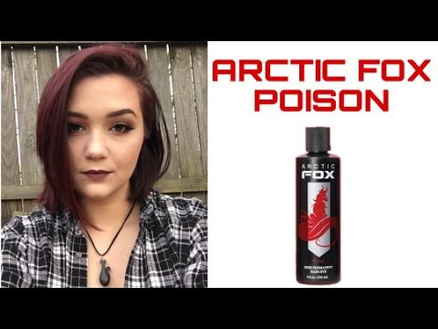 Dark Red Hair With Arctic Fox | No Bleach