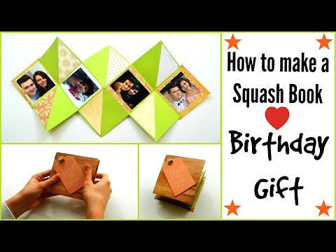 DIY Crafts - How to make a Squash Card (Squash Book) Greeting Paper Cards - Scrapbooking Gift Ideas