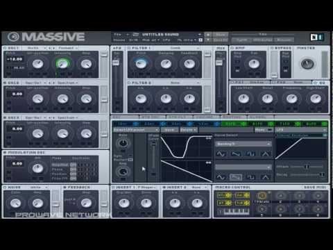 Skrillex's Extreme Quick Launch Synth Tutorial (NI Massive)