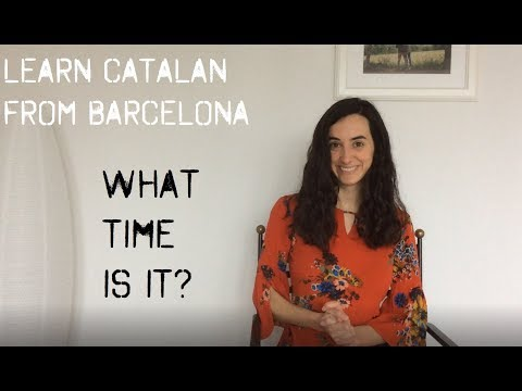 Learn Catalan: how to tell the time!