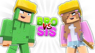 BRO VS SIS   WHO IS THE BEST BUILDER?! Minecraft Little Kelly