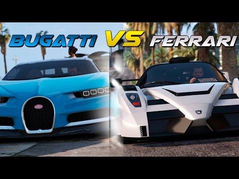 GTA 5 - Bugatti Chiron VS Ferrari Enzo