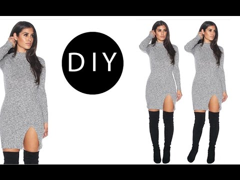 DIY Dress with Slit (easy)
