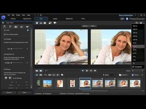 CyberLink PhotoDirector  |  Retouching Portrait Photos