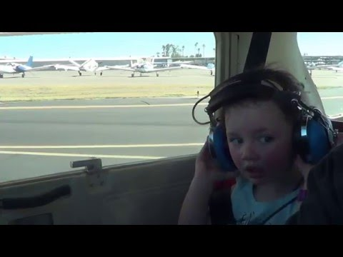 2 year olds first plane ride