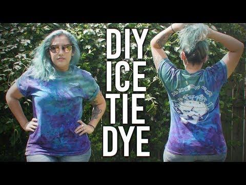 How to Ice Tie Dye : DIY - White on white Shmoxd shirt!