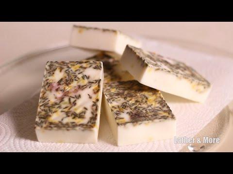 LatherandMore: How To Make Lavender Honey & Lemon Soap