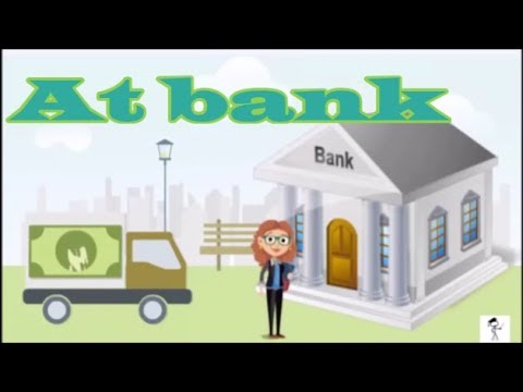 At the bank | English lesson