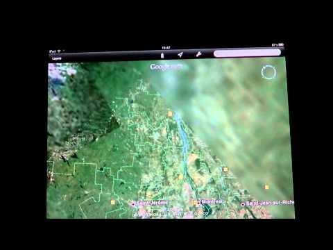 Google earth app - Ipad