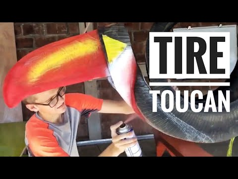RECYCLED TIRE TOUCAN!