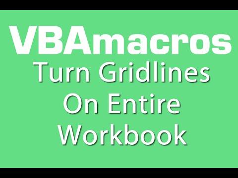 Turn Gridlines On Entire Workbook - VBA Macros - Tutorial - MS Excel 2007