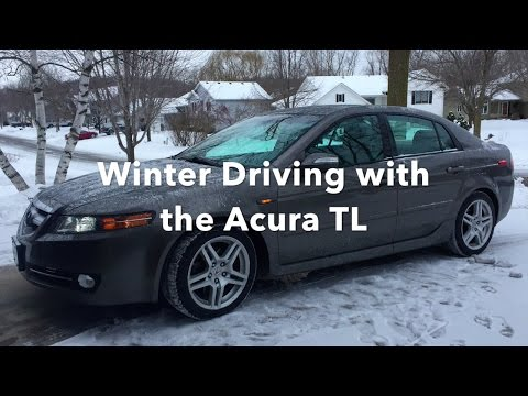 Acura TL Winter Driving with Michelin X-Ice Xi3 Snow Tires (Winter Storm Decima)