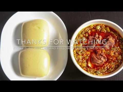 how to make banku with okro soup