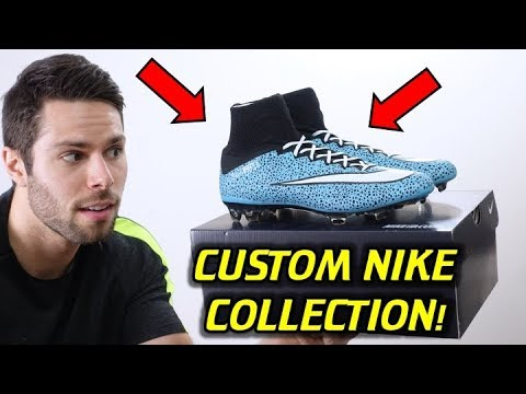 MY ENTIRE NIKE iD COLLECTION! (Custom Nike Soccer Cleats)