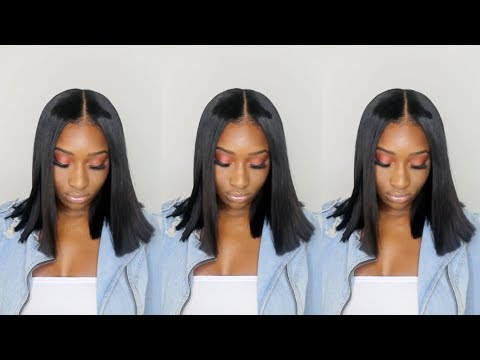 Kim Kardashian Inspired Blunt Cut   Natural Makeup Tutorial
