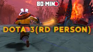 Playing A Full Dota Match In Third-Person (80+ MIN GAME!)