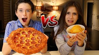 POTATO CHIPS vs REAL FOOD CHALLENGE!!