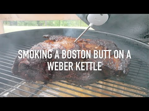 Smoking a Boston Butt on a Weber Charcoal Kettle