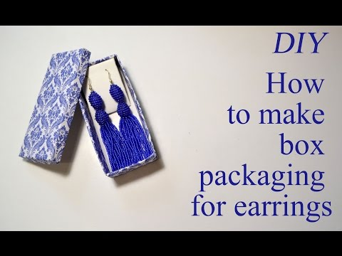 How to make gift box packing for earrings Tutorial Jewelry easy DIY