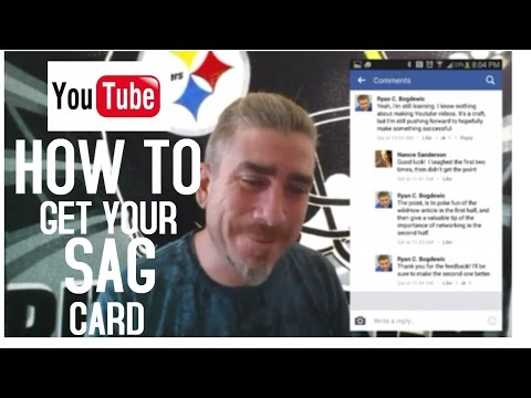 How to get your SAG card and avoid scams