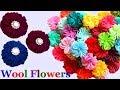 How to make Easy Woolen Flowers step by step | Handmade woolen thread flower making idea - diy