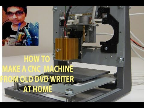How To Make A CNC/Drawing Robot At Home Using Old DVD Writer