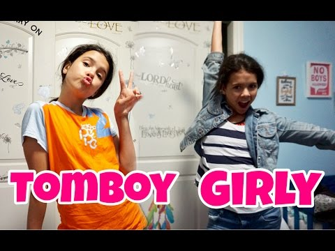 Girly Girl vs TomBoy Afterschool Routine