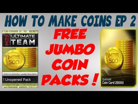 Madden 25 Ultimate Team - How to Make Coins Episode 2!  JUMBO COIN PACKS!
