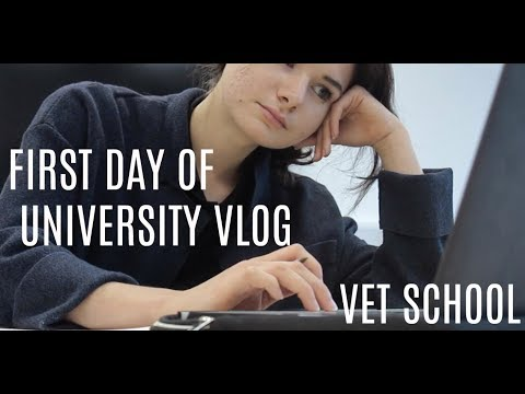 FIRST DAY OF UNIVERSITY VLOG // VET SCHOOL
