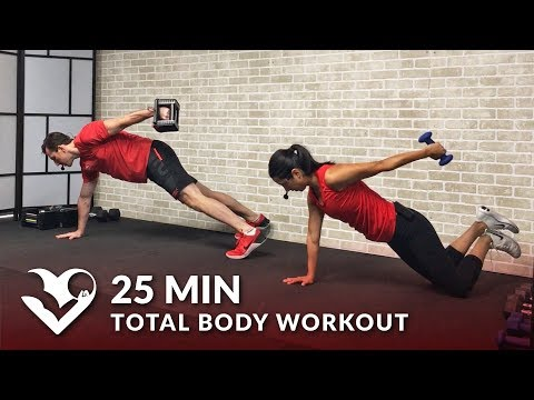 25 Min Total Body Workout with Weights - Dumbbell Training Strength Workout at Home for Women & Men