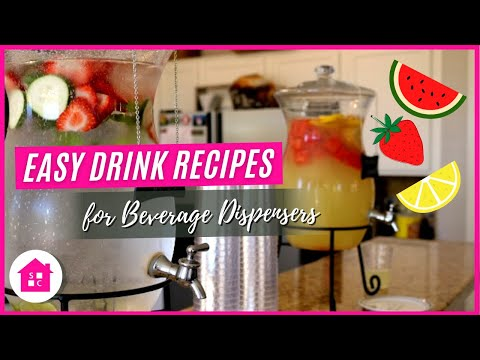 Summer Entertaining: My Go To Refreshing Drinks for Beverage Dispensers (Ep. 1 of 4)