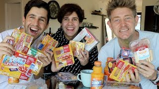TRYING EVERY LUNCHABLES FLAVOR ft DAVID DOBRIK and JASON NASH!!