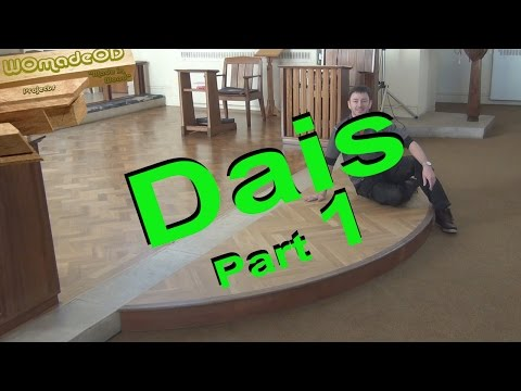 How to Make a Curved Platform - St.Johns Chancel Step part 1