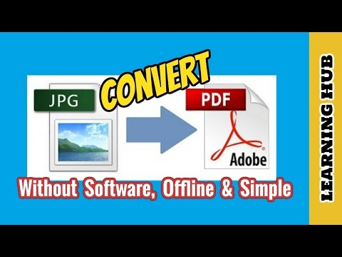 How To Convert JPG To PDF For FREE | Without Software | Simple & Offline