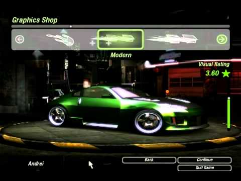 How to make Rachel's car on Need For Speed Underground 2