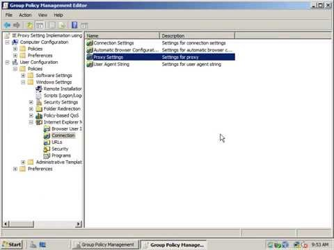 IE Proxy setting - Deploy Default IE Proxy Setting using Group Policy in windows 2008 server