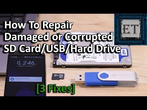 How To Fix Damaged or Corrupted SD Cards/USB/Hard Drive in Windows 10/8.1/8/7 (3 Easy Ways - 2018)