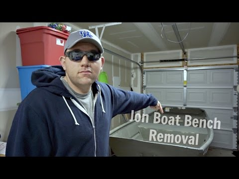 Jon Boat Project Bench Seat Removal