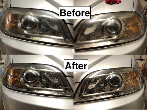 How to Clean Oxidized, Cloudy and Scratched Headlights! (Turtle Wax Headlight Lens Restorer)