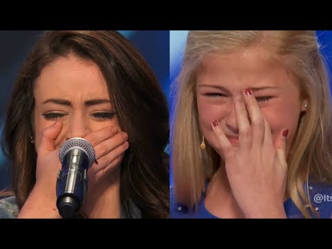 Top 10 ♥ WOMAN STARTS TO CRY ♥ EMOTIONAL On America's Got Talent!