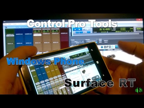 Control Pro Tools/Eleven Rack with a Windows Phone or Surface RT Tablet (Splashtop)